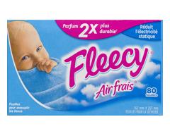 Image du produit Fleecy - Assouplissant en feuille, 80 unités, air frais