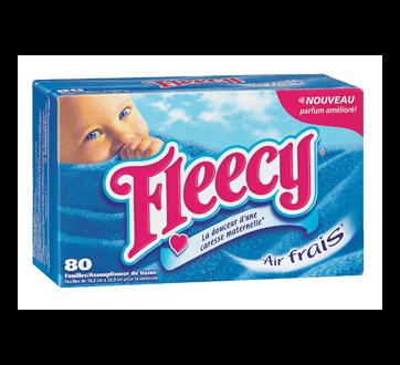 Image 2 du produit Fleecy - Assouplissant en feuille, 80 unités, air frais