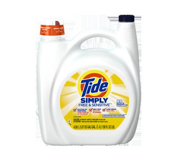 Simply Free & Sensitive détergent à lessive liquide, 4,08 L