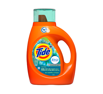 Turbo Clean + Febreze Freshness détergent à lessive liquide, 1,09 L, pluie botanique