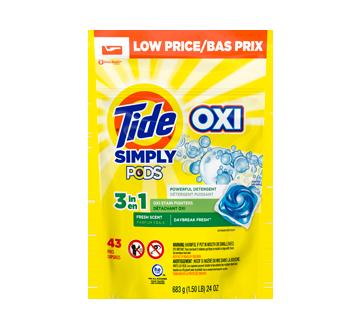 Simply Clean & Fresh Pods capsules de détergent à lessive liquide, 43 unités, Daybreak Fresh