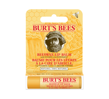 Baume pour les lèvres à la cire d'abeille 100% naturel, 1 unité