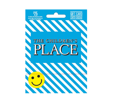 carte cadeau the children 39 s place de 25 incomm cartes cadeaux autres jean coutu. Black Bedroom Furniture Sets. Home Design Ideas