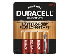 Image du produit Duracell - Piles alcalines AA Quantum, 4 piles