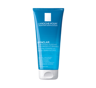 Effaclar gel moussant purifiant pour peaux grasses et sensibles, 200 ml