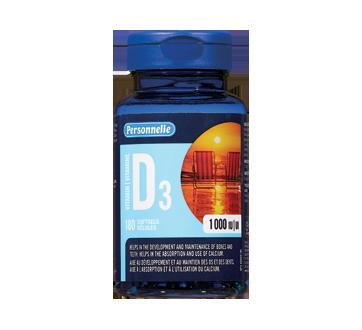 Image du produit Personnelle - Vitamine D3, 180 unités