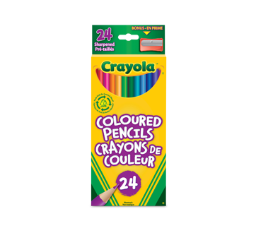 Crayons de couleur prétaillés, 24 unités