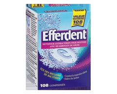 Image du produit Efferdent - Efferdent nettoyant antibactérien pour dentiers, 8 unités