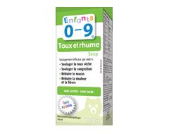 Image du produit Homeocan - Enfants 0-9 Toux et Rhume sirop, 100 ml, fruits