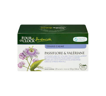 Image 2 du produit Four O'Clock Herboriste - Tisane calme, 20 unités, passiflore & valériane