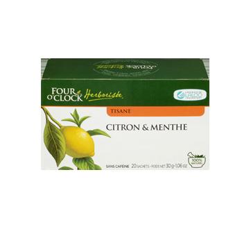 Image 3 du produit Four O'Clock Herboriste - Tisane, 20 unités, citron & menthe