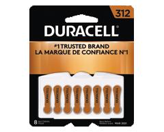 Image du produit Duracell - Pile pour appareils auditifs taille312, 8 piles
