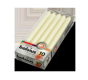 Bougies de table, 10 unités, ivoire