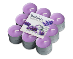 Image du produit Bolsius - Bougies chauffe-plat parfumées, 18 unités, lavande