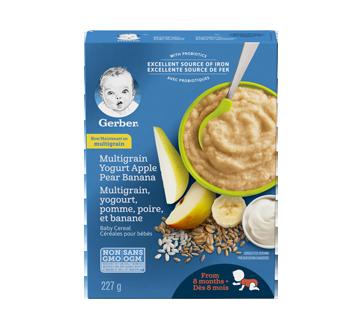 Gerber blé, yogourt, pomme, poire et banane, 227 g