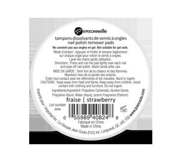 Image 2 du produit Personnelle Cosmétiques - Tampons dissolvants de vernis à ongles, 32 unités, fraise