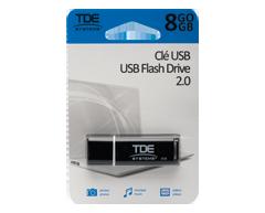Image du produit TDE - Clé USB 2.0 8 Go, 1 unité