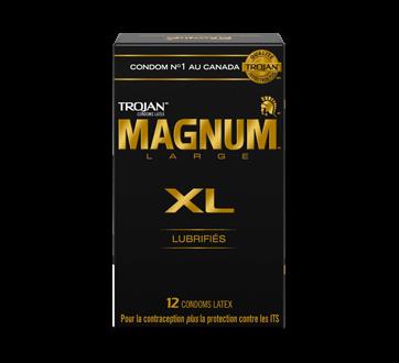Image 1 du produit Trojan - Magnum XL condoms lubrifiés, 12 unités