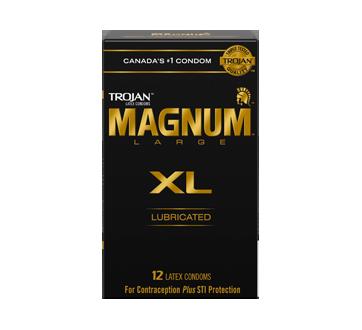 Image 2 du produit Trojan - Magnum XL condoms lubrifiés, 12 unités