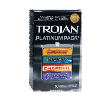 Image du produit Trojan - Platinum Pack condoms lubrifiés, 10 unités