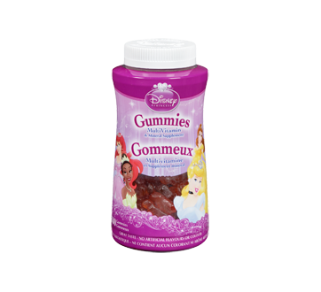Image du produit Disney - Gommeux multivitamines Princesse, 180 unités, raisin, orange et cerise