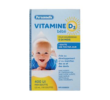 Image du produit Personnelle - Vitamine D3 pour bébé 0-24 mois, 2,5 ml