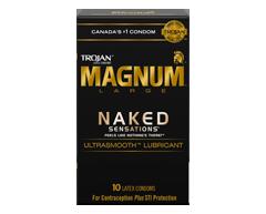 Image du produit Trojan - Magnum Sensations Nues condoms lubrifiés, 10 unités