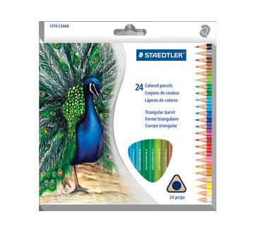 Crayons de couleur, 24 unités