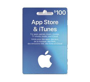 Carte cadeau App Store & iTunes de 100$, 1 unité