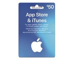 Image du produit Incomm - Carte-cadeau iTunes de 50 $