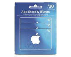 Image du produit Incomm - Carte-cadeau iTunes emballage multiple de 30 $