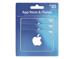 Carte-cadeau iTunes emballage multiple de 30 $