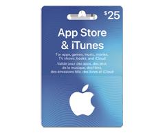 Image du produit Incomm - Carte-cadeau iTunes de 25 $