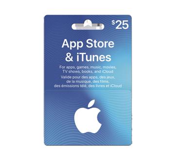 Carte cadeau App Store & iTunes de 25$, 1 unité