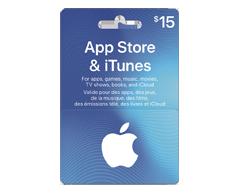 Image du produit Incomm - Carte-cadeau iTunes de 15 $