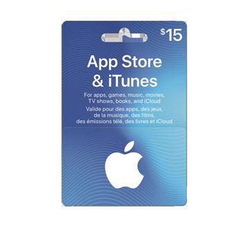 Carte cadeau App Store & iTunes de 15$, 1 unité