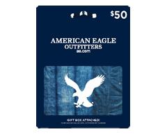 Image du produit Incomm - Carte-cadeau American Eagle Outfitter de 50 $, 1 unité
