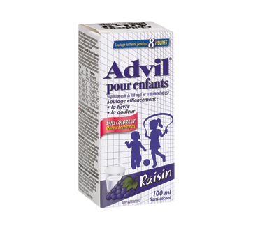 Image du produit Advil - Advil suspension pour enfants sans colorant, 100 ml, raisin