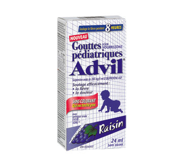 Image du produit Advil - Advil Pédiatrique gouttes sans colorant, 24 ml, raisin