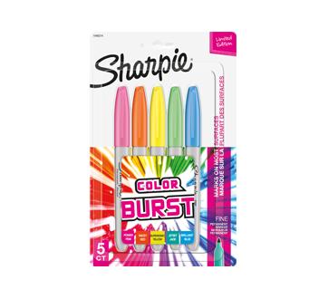 Color Burst marqueur permanent, 5 unités