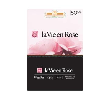 La Vie en Rose carte-cadeau de 50 $, 1 unité
