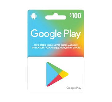Carte-cadeau Google Play de 100 $, 1 unité