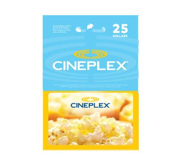 Carte-cadeau Cineplex de 25 $, 1 unité
