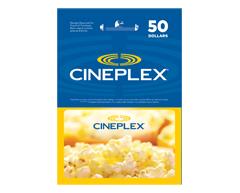 Image du produit Incomm - Carte-cadeau Cineplex de 50 $