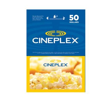 Carte-cadeau Cineplex de 50 $, 1 unité