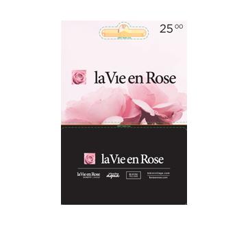 La Vie en Rose carte-cadeau de 25 $, 1 unité