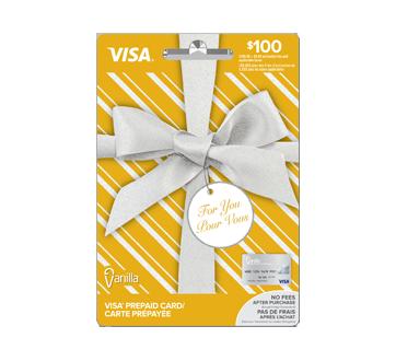Carte prépayée Vanilla Visa de 100 $, 1 unité