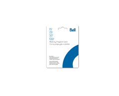 Image du produit Incomm - Cartes prépayées pour cellulaires Bell Mobilité de 15 $