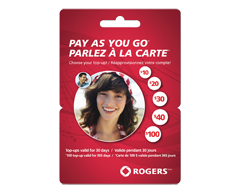 Image du produit Incomm - Cartes prépayées pour cellulaires Rogers Parlez à la carteMC 10 $, 1 unité