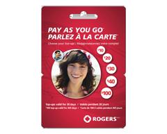 Image du produit Incomm - Cartes prépayées pour cellulaires Rogers Parlez à la carteMC 100 $